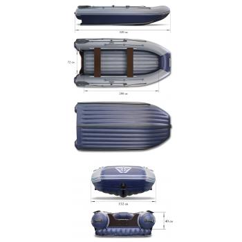 Надувная ПВХ лодка ФЛАГМАН DK 320