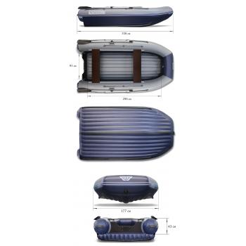 Надувная ПВХ лодка ФЛАГМАН DK 350