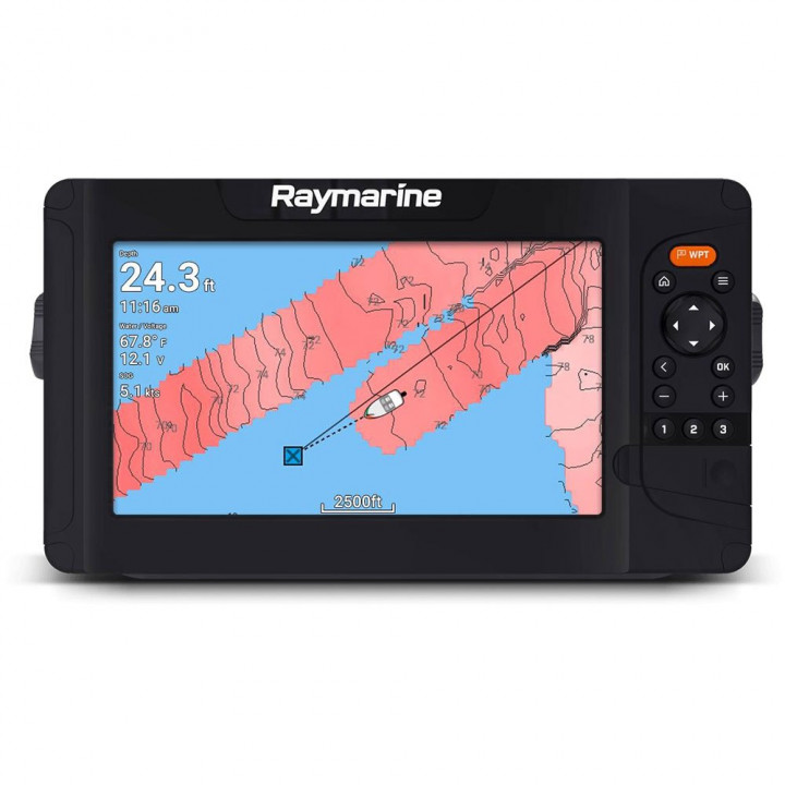 "Эхолот Raymarine Element 9 HV - 9"" Chart Plotter with CHIRP Sonar, HyperVision, Wi-Fi & GPS, No Chart & No Transducer"