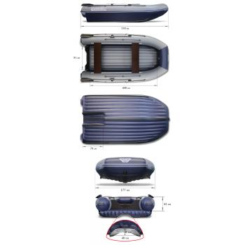 Надувная ПВХ лодка ФЛАГМАН DK 550 Jet