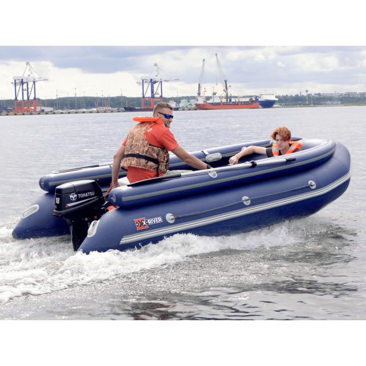 Надувная ПВХ лодка X-River Rocky 415 фальшборт