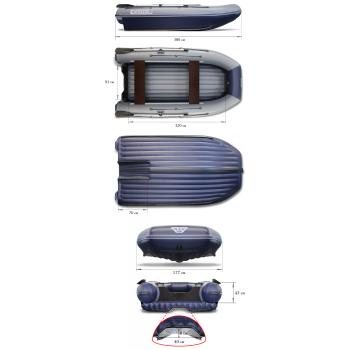 Надувная ПВХ лодка ФЛАГМАН DK 380 Jet