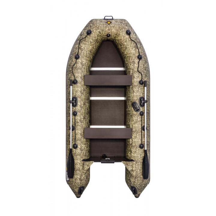 Надувная ПВХ лодка Ривьера Компакт 3400 СК Камуфляж