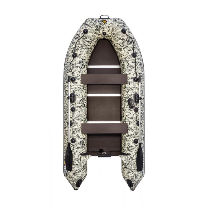 Надувная ПВХ лодка Ривьера Компакт 3600 СК Камуфляж